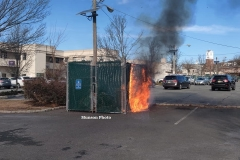 Engine 1 arrived on scene to find a well involved dumpster fire.