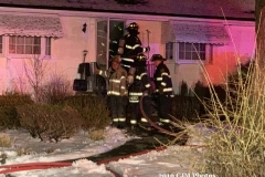 Firefighters made an aggressive interior attack, stretching two lines