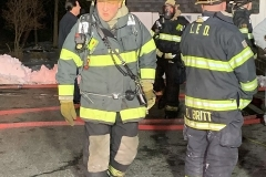 Firefighter Herb Schilling on the fireground
