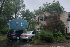 Tree Down on a Home on Bonnyview Dr